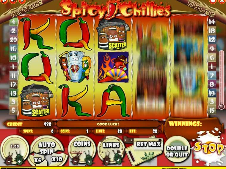 spicy chillies auto play